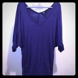 Bebe Purple 3/4 Sleeve Tunic Top!